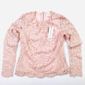 Rachel Parcell rose lace top